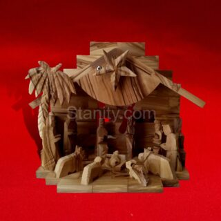 Musical Bethlehem Nativity Creche BA68
