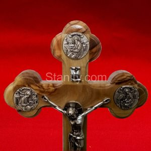 Table crucifix cross With Apostles of Christ plate