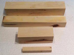 Carob wood turning blanks